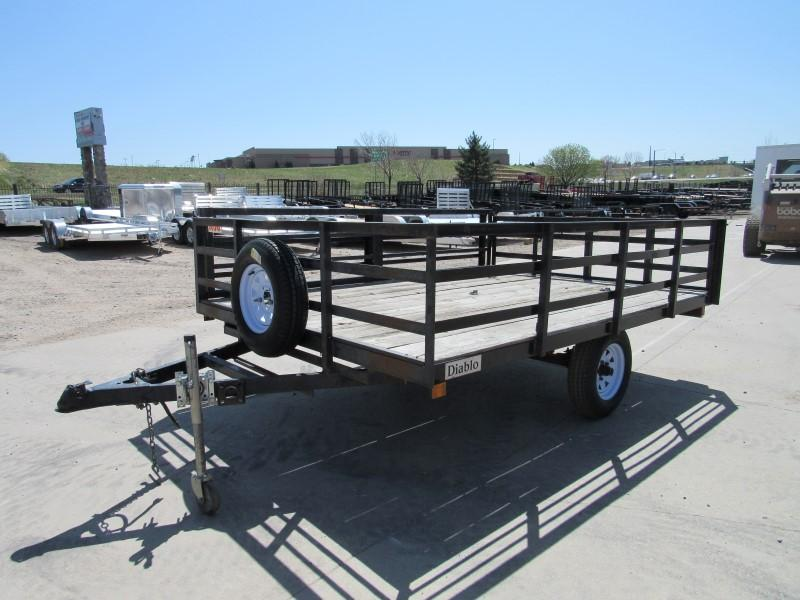 2002 Diablo Trailer Co. 8x10 Flatbed Trailer