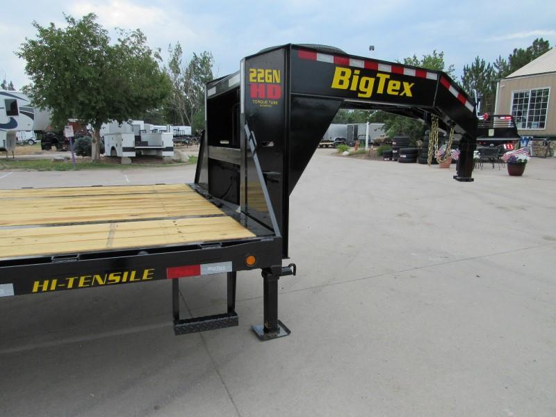 2020 Big Tex Trailers 22GN-28BK+5MR Flatbed Trailer