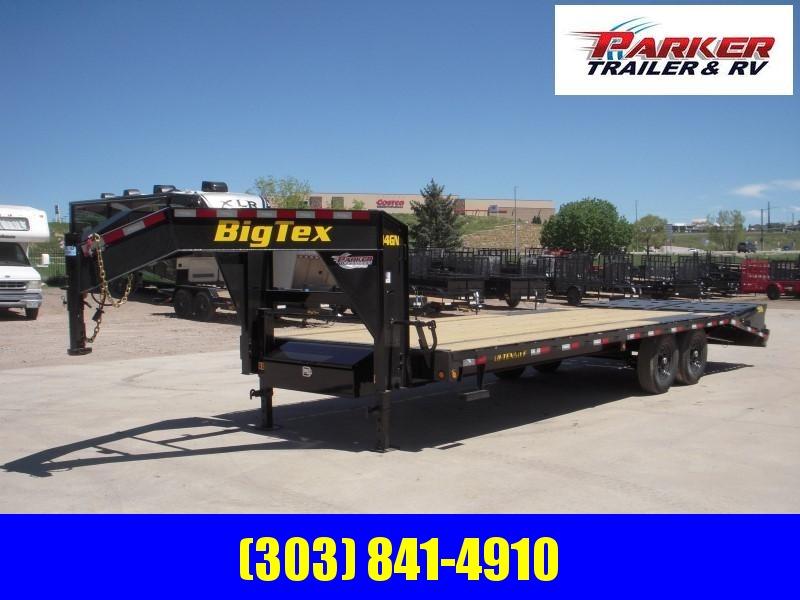 2020 Big Tex Trailers 14GN-20BK+5MR Flatbed Trailer