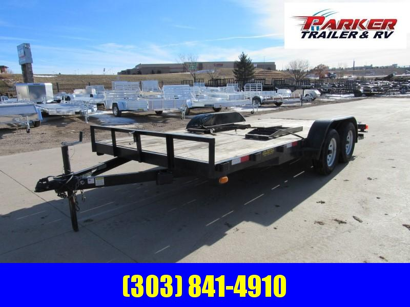 2016 Big Bubba 7X16CARHAUL Flatbed Trailer