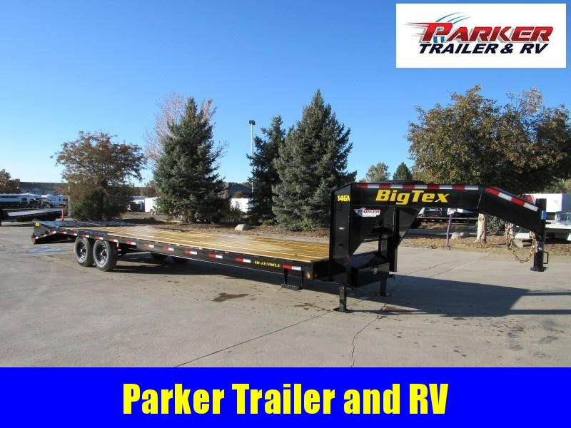 2020 Big Tex Trailers 14GN-25BK+5MR Flatbed Trailer