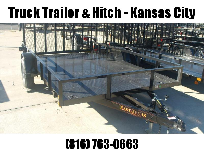 Utility Trailer 83 X 12 ALL Metal Trailer  2990 # Axle  Ramp