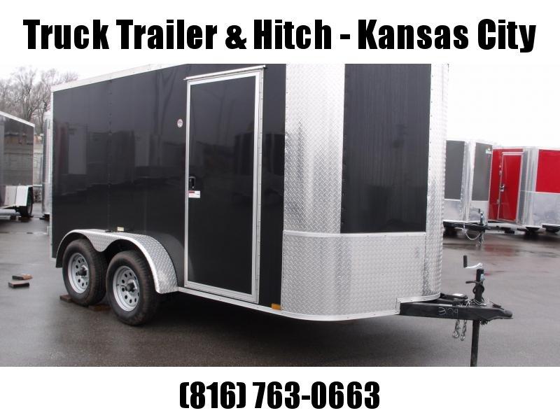 "Enclosed Trailer 7 X 12 BARN  DOOR 7000 GVW 6' 3"" Height Black In Color"
