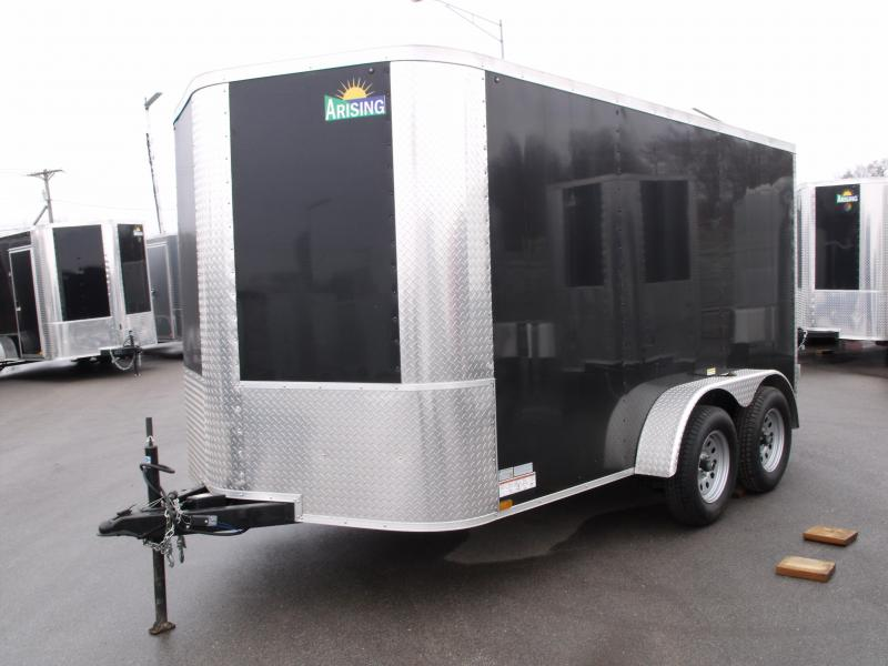 "Enclosed Trailer 7 X 12 BARN  DOOR 7000 GVW 6' 3"" Height Black In Color"