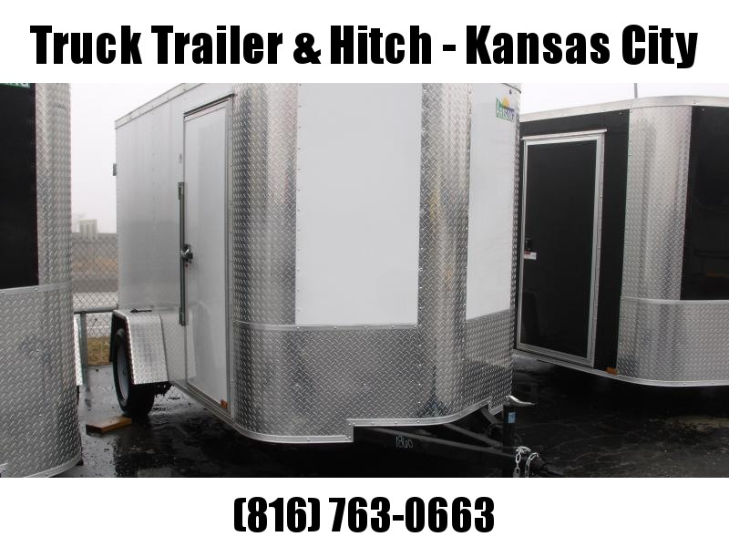 Enclosed Trailer 6 X 10 BARN DOOR  Color White   All Tube Construction