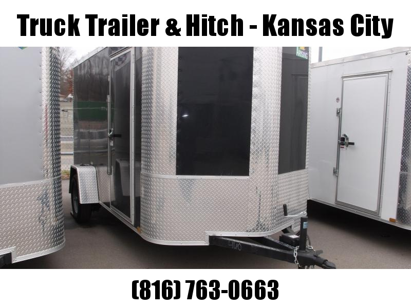 "Enclosed Trailer 6 X 12 Ramp All Tube Construction Black  In Color 6' 3"" Interior Height"