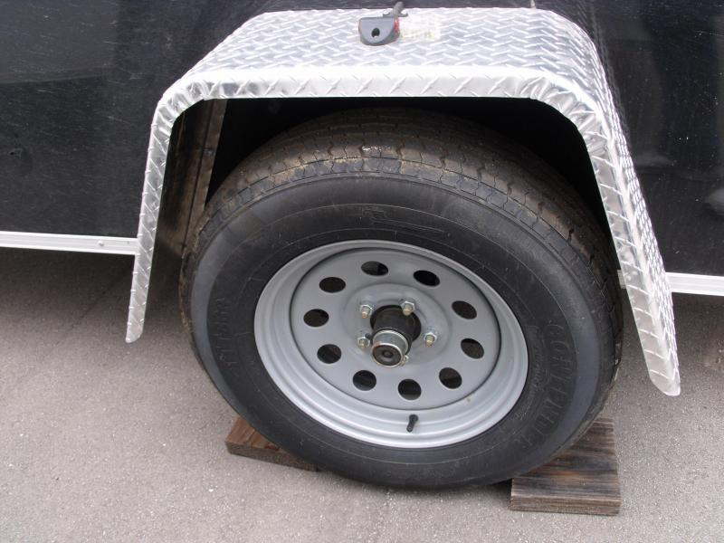 """Enclosed Trailer 6 X 12 Ramp All Tube Construction Black  In Color 6' 3"""" Interior Height"""
