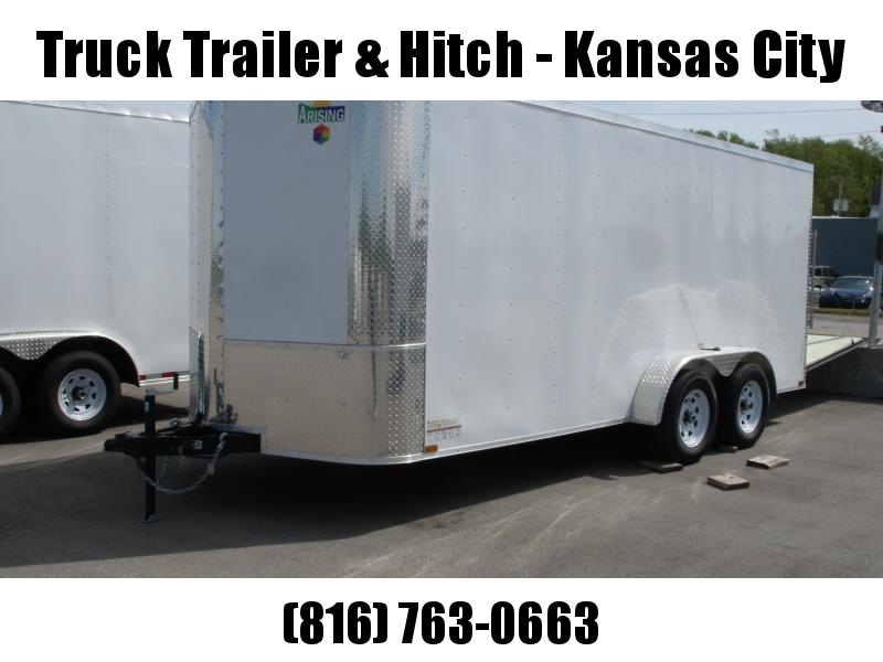 Enclosed Trailer 7 X 16 Ramp  White   In Color ALL Tube Construction