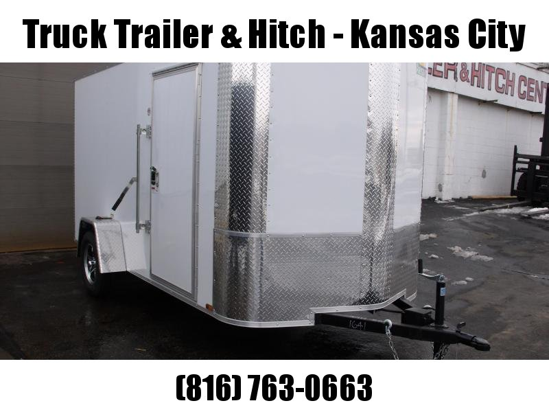 Enclosed Trailer 6 X 12 Ramp All Tube Construction White In Color