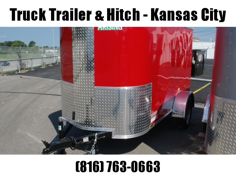 Enclosed Trailer  4 X 8 Barn Door Red In Color All Tube In Construction(( The Tailgater))