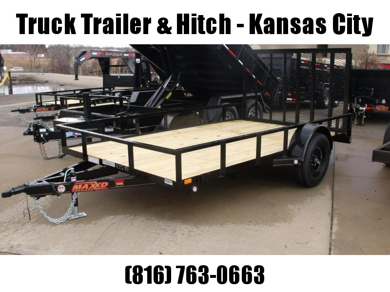 Utility Trailer 83 X 12 Front & Rear Folding Gate 2990 Axle MAXXD
