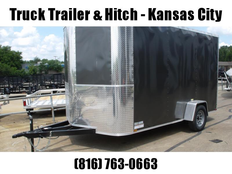 Enclosed Trailer 7 X 12 RAMP  DOOR 2990 GVW   7'   Height Charcoal  In Color