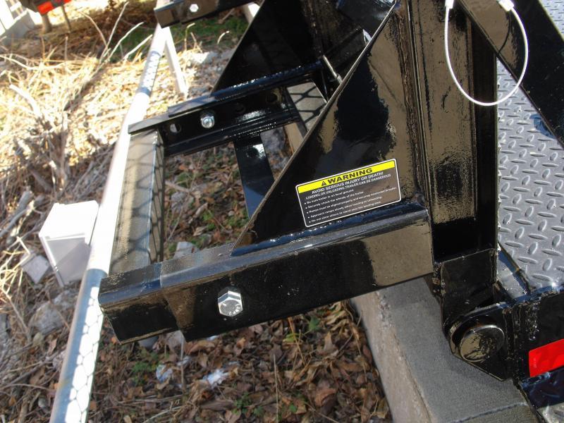 "Equipment Trailer 83 X 20  Steel Deck """" Drive Over Fenders""""  14000 GVW HD Boxed Ramps"