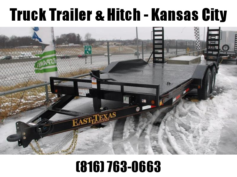 "Equipment Trailer 83 X 18 Steel Deck """" Drive Over Fenders""""  14000 GVW HD Boxed Ramps"