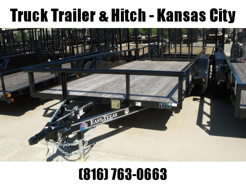 Utility Trailer 83 X 16 Ramp PIPE RAIL TOP Tandem Axle TUBE Ramp And Brakes
