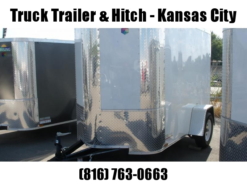 Enclosed Trailer  5 X 8 Ramp 6' Height  ALL Tube Construction  White   In Color