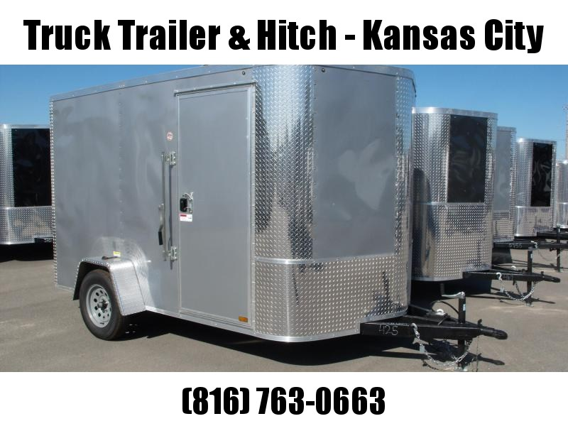 """Enclosed Trailer 7 X 10 Ramp 6' 6"""" Height    All Tube Construction Silver Mist In Color"""