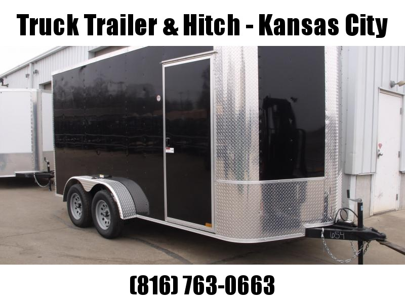 Enclosed Trailer 7 X 14 Ramp 7' Interior Height   Black  In Color ALL Tube Construction