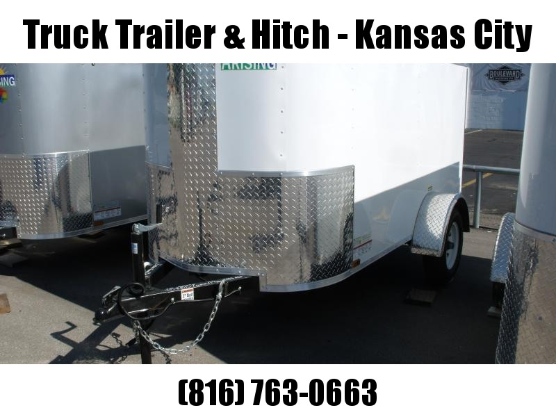 Enclosed Trailer 4 X 8 Barn Door   White  In Color 2000 # Axle ALL Tube Construction