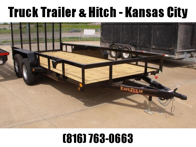 77 X 16 Utility Trailer Flat Deck Heavy Duty Tube Gate  4 WL Brakes 7000 GVW