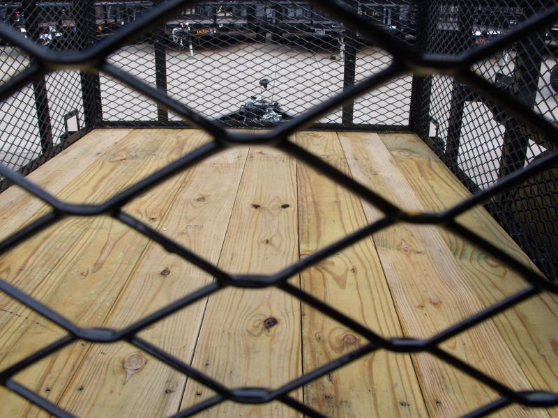 High-Wall Trailer 5 X 8 Wood Deck  Steel Mesh Sides 2990 Axle