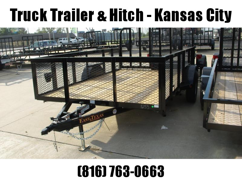 High-Wall Utility Trailer  83 X 12 Tube Gate 2990 Axle