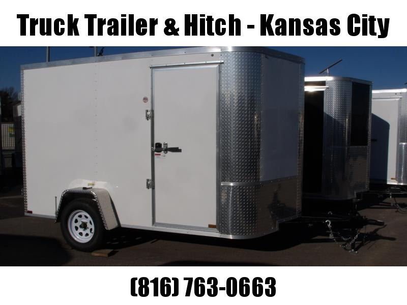 """Enclosed Trailer 7 X 10 Ramp 6' 6"""" Height """""""""""" BARN DOOR""""""""""""""""   All Tube Construction White  In Color"""
