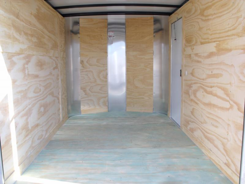 "Enclosed Trailer 7 X 10 Ramp 6' 6"" Height """""" BARN DOOR""""""""   All Tube Construction White  In Color"