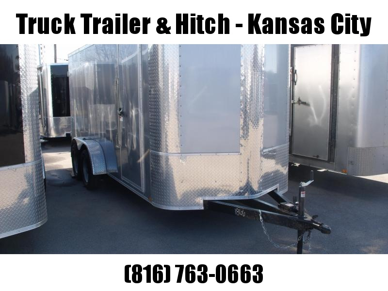 "Enclosed Trailer 6 X 16  BARN DOORS   6' 6""' Interior Height   Silver Mist In Color ALL Tube Construction"