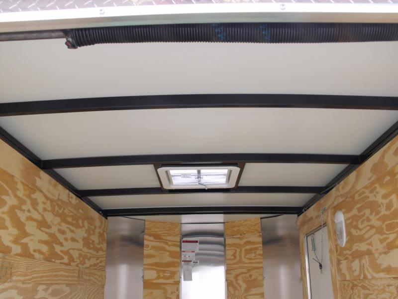 """Enclosed Trailer  5 X 8 Ramp 5'6"""" Height  ALL Tube Construction  Two Tone Silver Mist Front/Black Rear     In Color"""