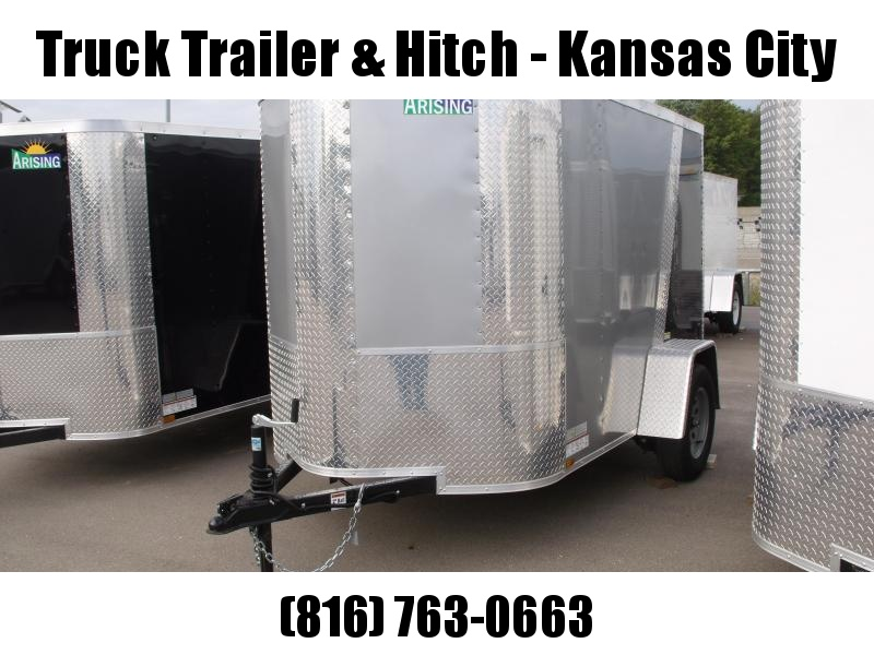 "Enclosed Trailer  5 X 8 Ramp 5'6"" Height  ALL Tube Construction  Two Tone Silver Mist Front/Black Rear     In Color"