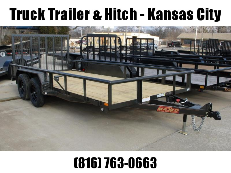 83 X 16 ATV/Utility Trailer Pipe Rail Top   7000 GVW FRONT AND REAR FOLDING GATE(Very Low Wind Resistance)