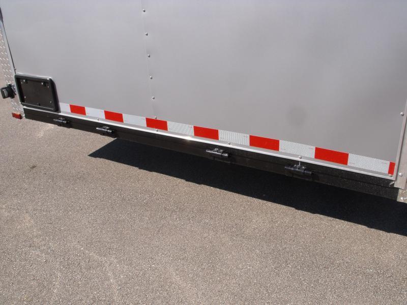 Enclosed Trailer Razor Trailer   8.5 X 24 V Nose 7' Tall Dove Tail Color Frt White/ Rear Silver Mist   9990 GVW  Dove Tail
