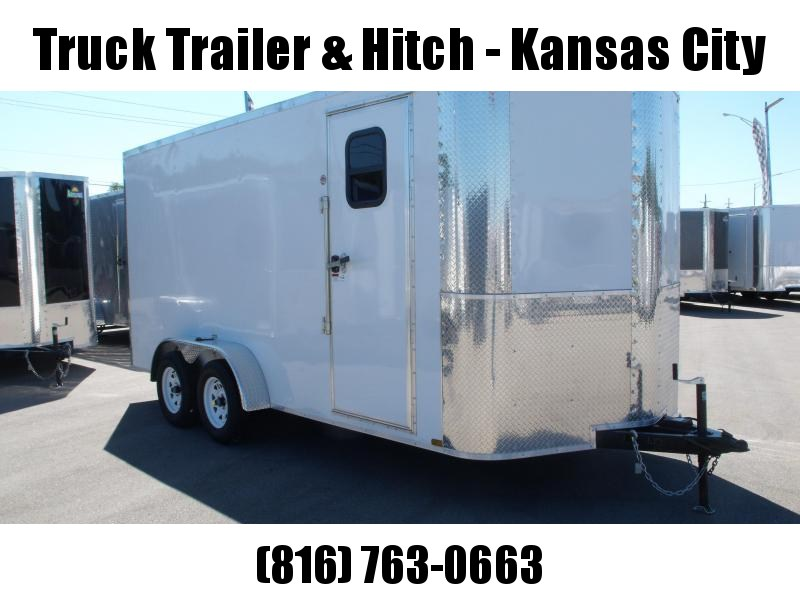 Enclosed Trailer 7 X 16 Ramp 7' Interior Height   White   In Color ALL Tube Construction