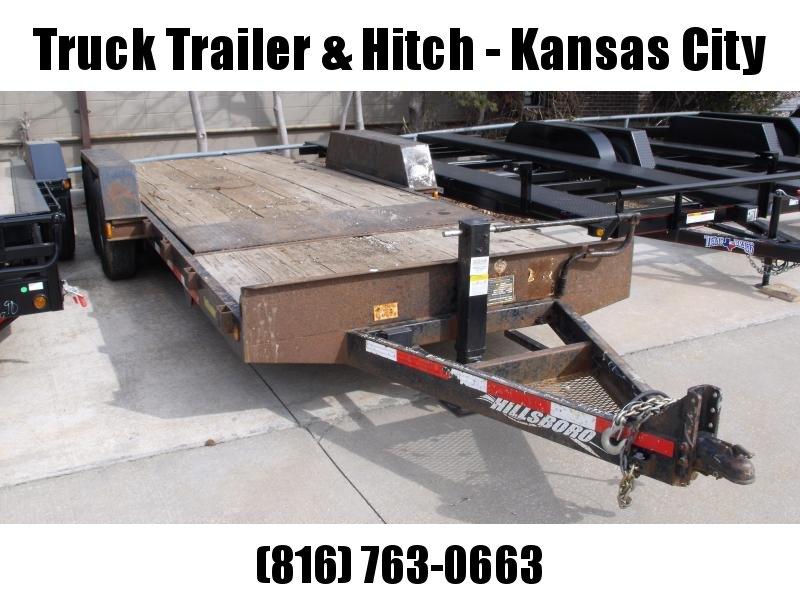Gravity Tilt 81 x 16' X 4' Stationary Deck  Equipment Trailer