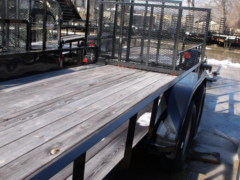 Utility Trailer 83 X 18 Ramp Tandem Axle Ramp And Brakes