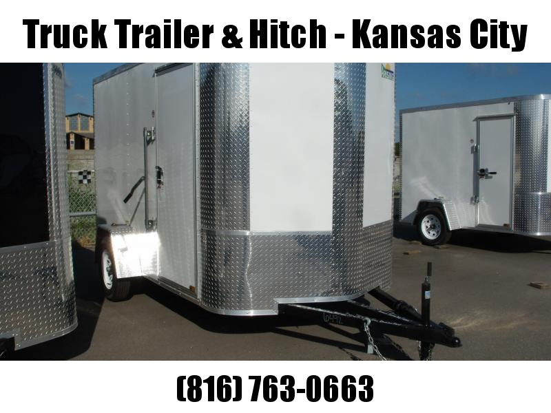 Enclosed Trailer  5 X 8 Ramp 5' Height  ALL Tube Construction  White Front/Silver Mist Rear  In Color