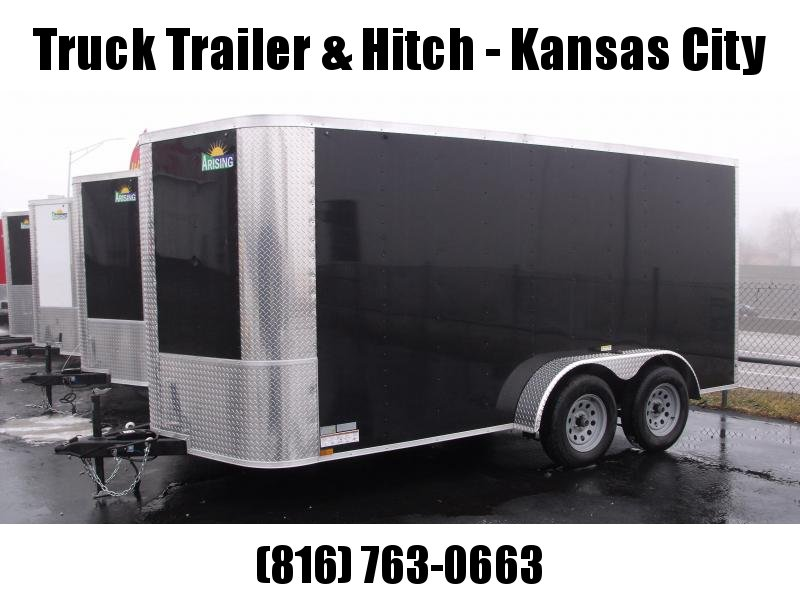 """Enclosed Trailer 7 X 14 Ramp   6' 3""""  Interior Height   Black  In Color ALL Tube Construction"""