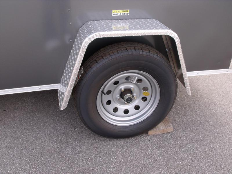 Enclosed Trailer  5 X 8 Ramp 6' Height Charcoal In Color