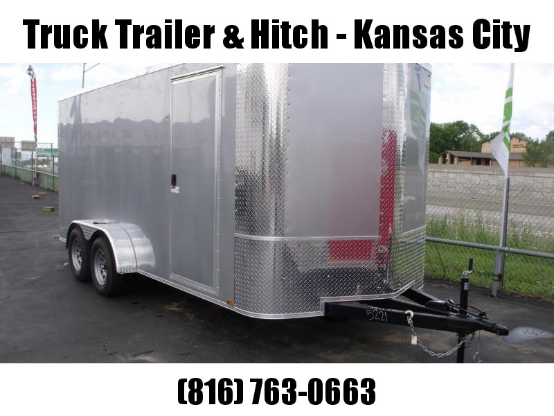 """Enclosed Trailer 7 X 16 Ramp 6' 6"""" Interior Height Silver Mist Color ALL Tube Construction"""