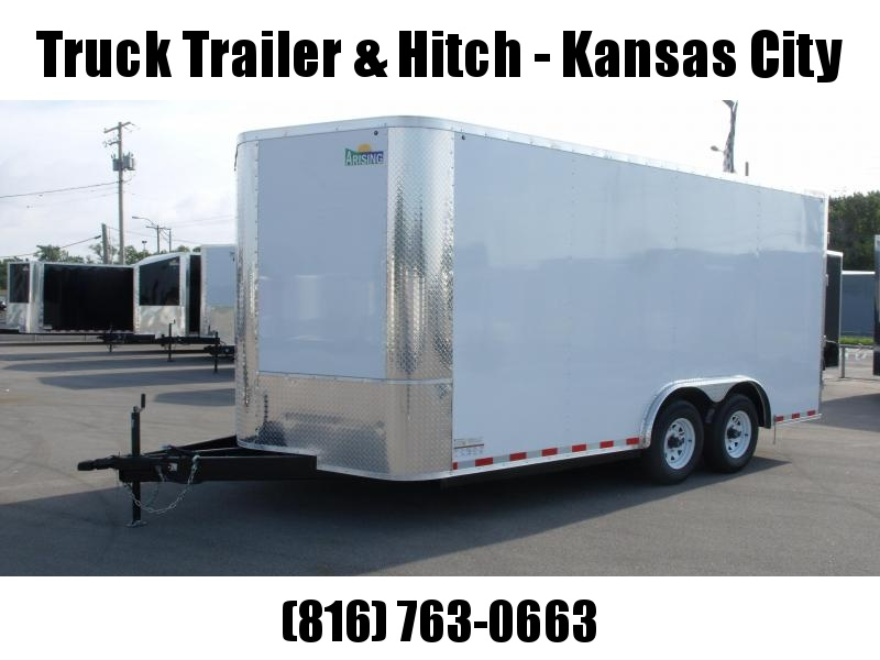 Enclosed Trailer 8.5 X 16 BARN DOOR White In Color 9990  GVW 7'  Height Heavy Duty Back Door Hunges