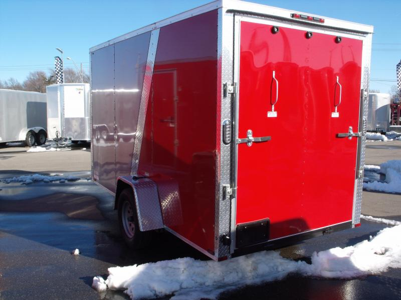 """Enclosed Trailer 6 X 12 Ramp All Tube Construction Two Tone  Silver Mist  In Color 6' 6"""" Interior Height"""