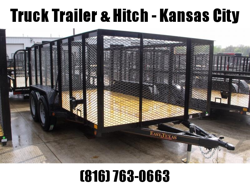 High-Wall  Landscape Trailer 83 X 14 Heavy Duty Tube  Ramp 7000 GVW