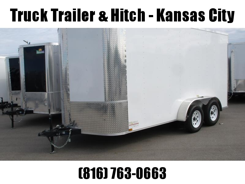 Enclosed Trailer 7 X 14 Ramp 7' Interior Height Color White  ALL Tube Construction