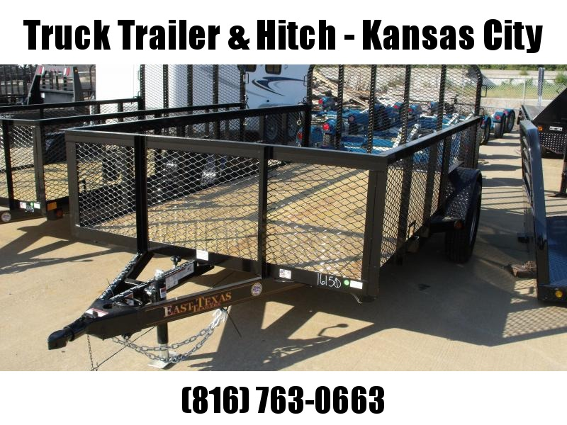 High-Wall Utility Trailer 72 X 10 Tube Gate 2990 Axle