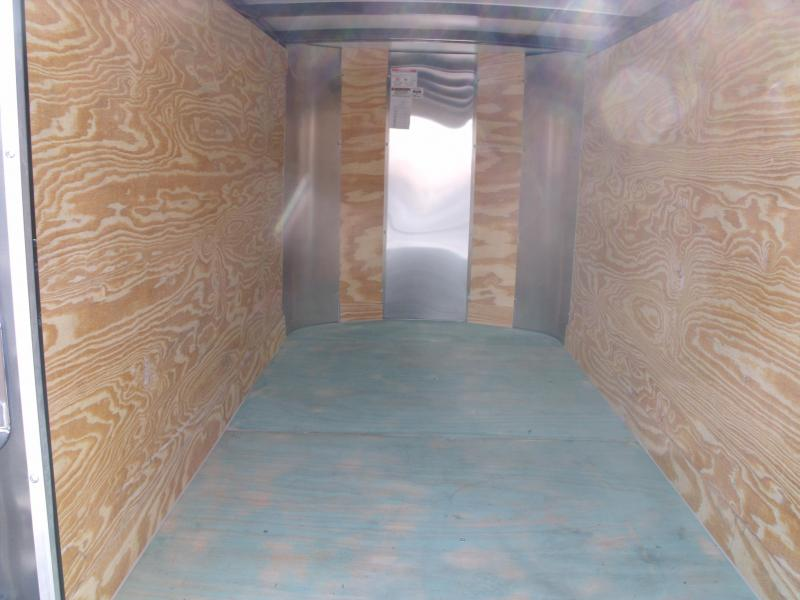 Enclosed Trailer For The Smaller Vehicles  4 X 8 Barn Door 4' 6 Two Tone Silver/Charcoal