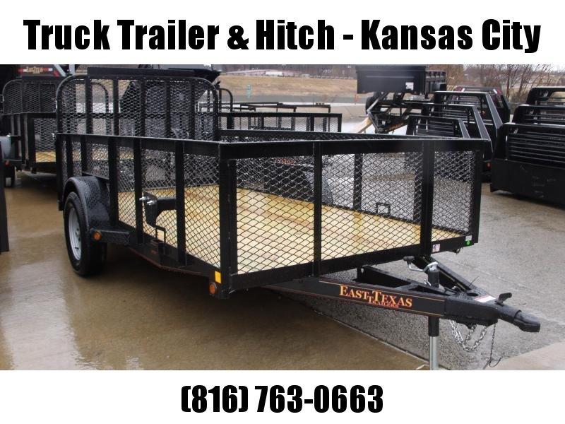 High-Wall Trailer 6' X 12'  Wood Deck  Steel Mesh Sides 2990 Axle