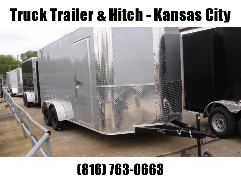 Enclosed Trailer 7 X 16 Ramp 7' Interior Height   Silver Mist   In Color ALL Tube Construction