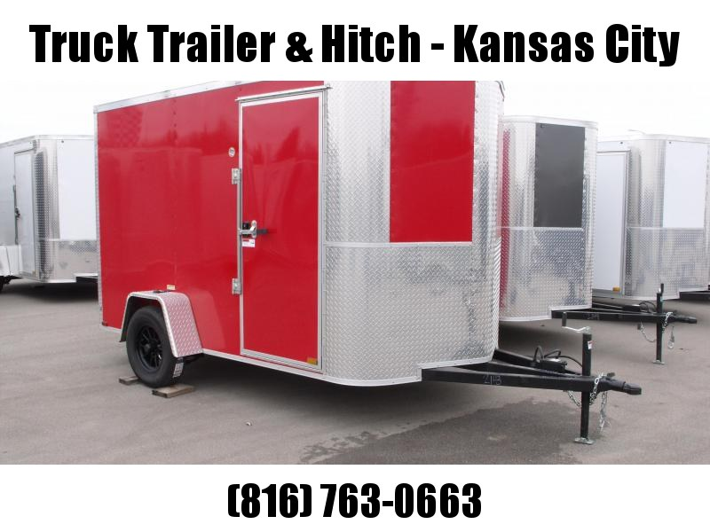 "Enclosed Trailer 6 X 10 Ramp 6' 6"" Interior Color Red  All Tube Construction"