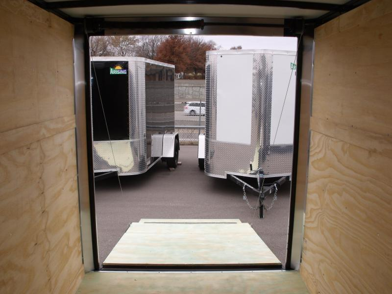 """Enclosed Trailer 6 X 10 Ramp 6' 6"""" Interior Color Red  All Tube Construction"""